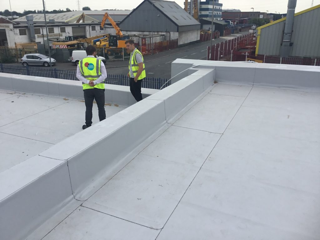 Refurbishment of roof at industrial unit on Hammond Road, Knowsley